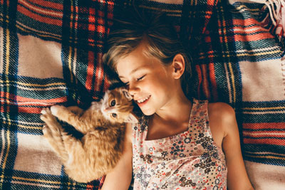 Having a cat can help children with ASD.